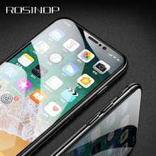 ROSINOP Scratch Proof 9H Tempered Glass For iphone XS Max 6 7 8 plus Phone Screen Protector Protective Film XR