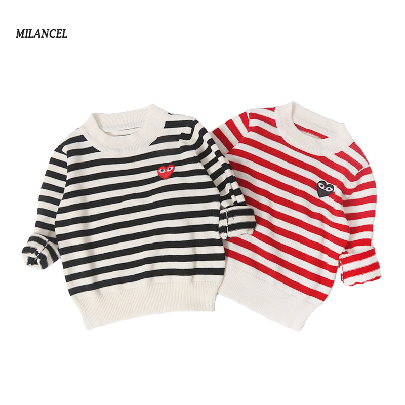 2019 Children Sweatershirt Striped Kids Boys Sweaters Casual Girl Knitwear  Cute Sweater for Girls Kids Pullover for 1,5T