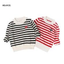 2e22f2d148aab 2019 الأطفال Sweatershirt مخطط الاطفال الفتيان البلوزات عارضة فتاة تريكو  لطيف سترة للفتيات الاطفال السترة ل