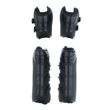 2 Pairs of Adjustable Horse Riding Legs Guard Boots Front & Hind Wraps Back Tendon Universal Protective Gear