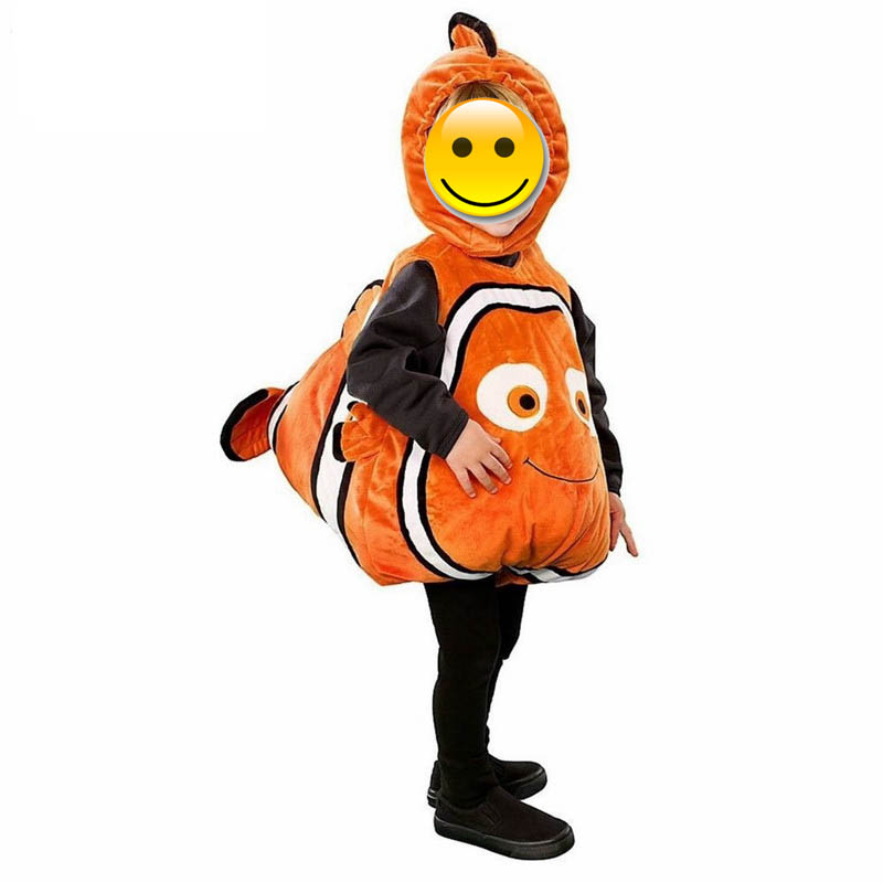 Child Anime Clownfish Animated Film Finding Nemo Little Baby Fishy Cosplay Halloween Costumes For Boys Grils Kids Christmas gift