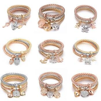 Les bijoux fantaisies les plus vendus de l'année 3 Pièces Arbre de vies, Coeur et d'autres formes 5