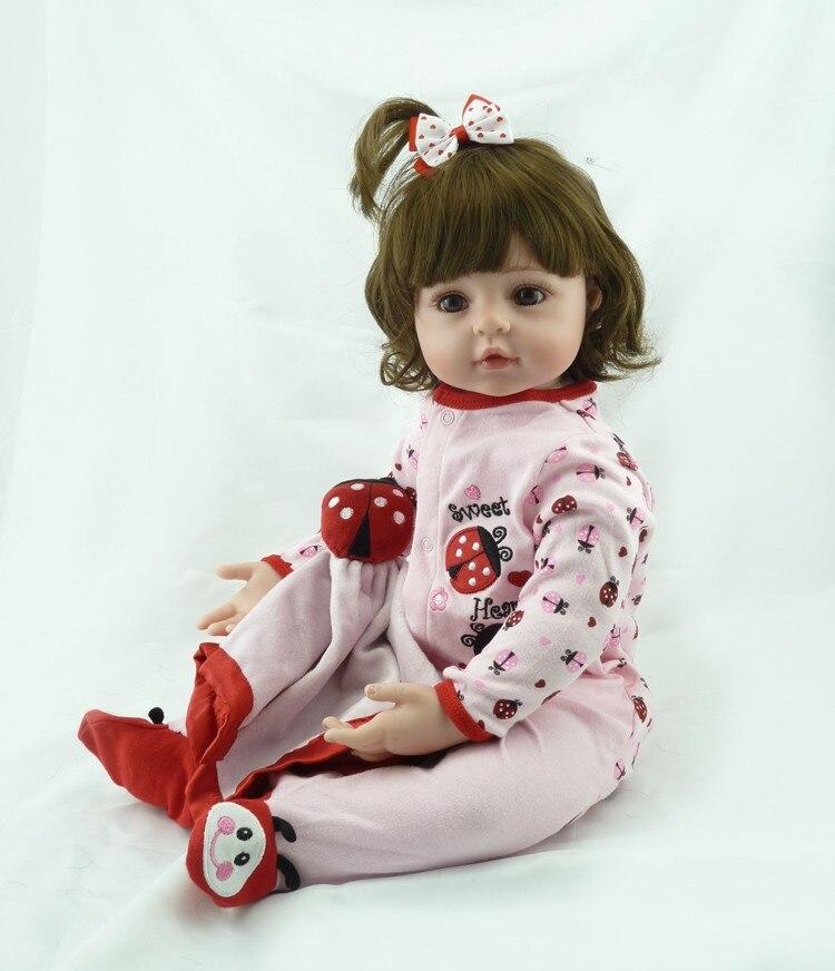 Здесь продается  55cm Hot sale cheap dollar Victoria adora Lifelike newborn Baby Bonecas Bebe kid toy girl full silicone reborn baby dolls  Игрушки и Хобби