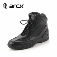 ARCX Motorcycle Riding Shoes Genuine Cow Leather Street Moto Road Racing Motorbike Chopper Cruiser Touring Biker Ankle Boots