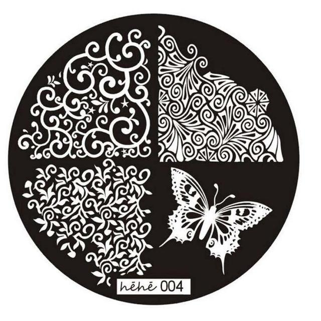 2017 Pattern Nail Art Image Stamp Stamping Plates Manicure Template 004 P30  F35 HW