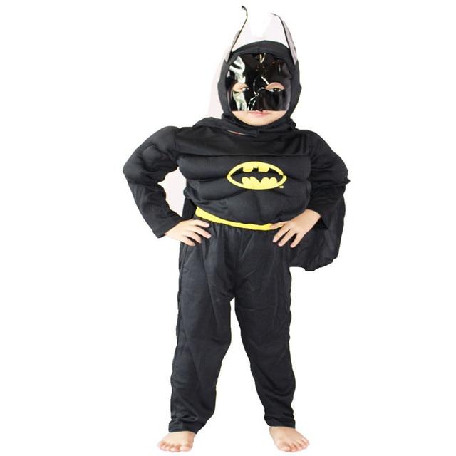 2017 Boys Muscle Batman Costume Kids Comic Superhero Batman Cosplay Clothing Halloween Christmas Carnival Fancy Dress  sc 1 st  AliExpress.com & 2017 Boys Muscle Batman Costume Kids Comic Superhero Batman Cosplay ...