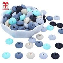 BOBO. HỘP 500 chiếc Ốp Hạt 12mm Perle Ốp Miếng Dán DIY Hạt Thực Phẩm Silicon Cao Cấp Bàn Tính Hạt Mọc Răng Vòng Cổ Điều Dưỡng