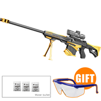 Gold M82A1 Airsoft Air Guns Manual Paintball Toy Gun Christmas Gift Kid Sniper Rifle Live CS