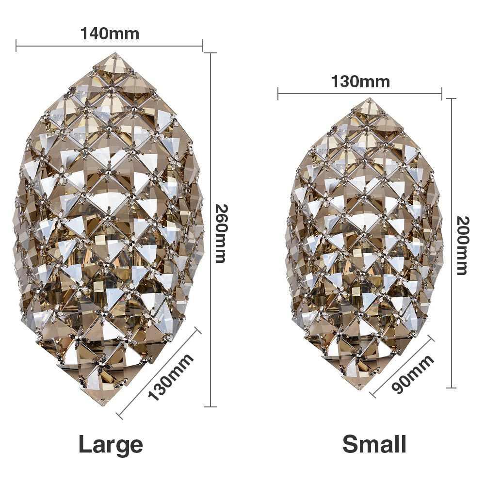Modern Lampu Gantung Kristal G9 Lampu Dinding Emas Kristal Wall Sconce Lampu LED Lobi Ruang Tamu Samping Tempat Tidur Kaca Kristal Lampu Dinding