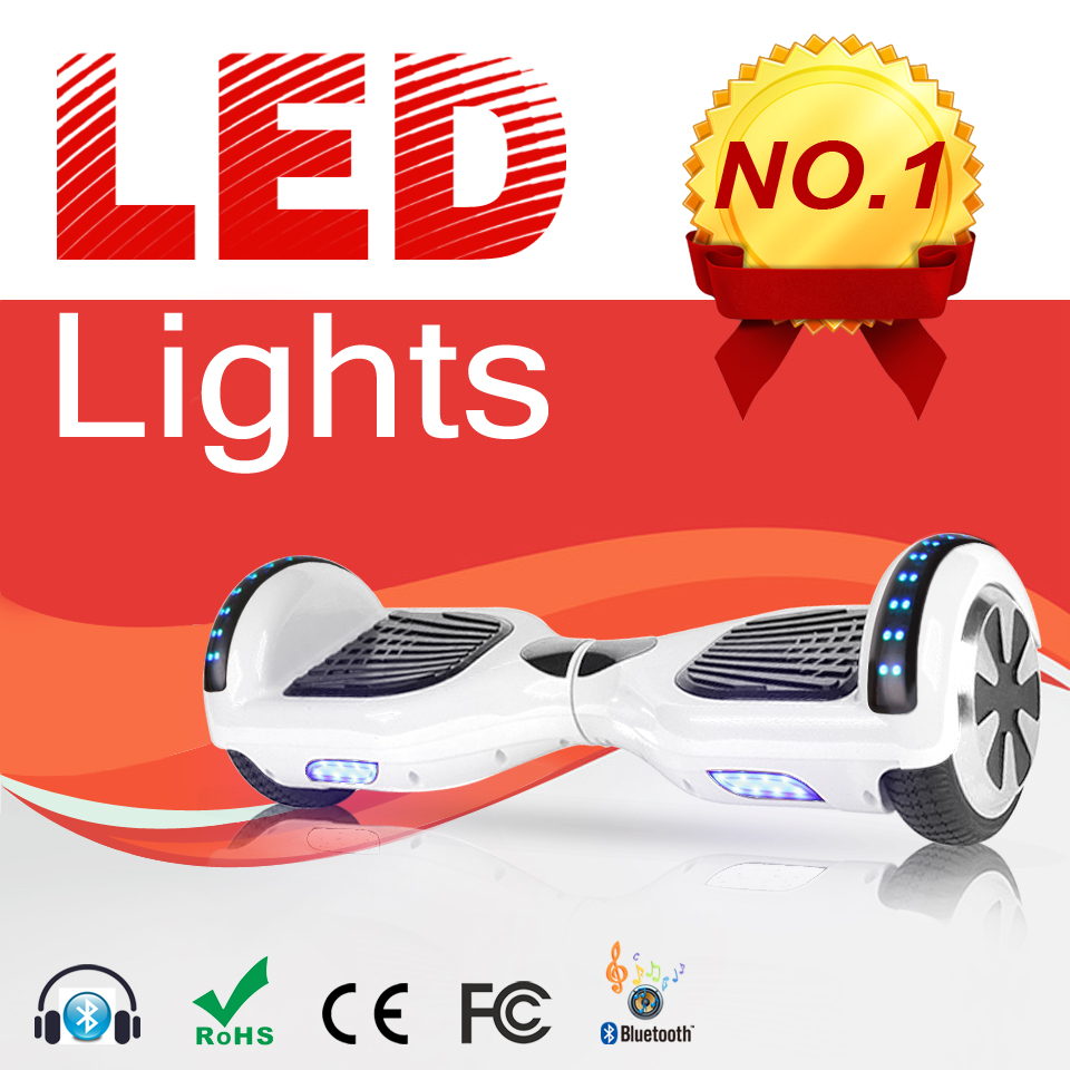 White Electric Self Balancing Scooter Hoverboard Electric Unicycle Skateboard Kick Transport Bag Scooter Board  E Scooter цена и фото