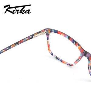 Image 5 - Kirka óculos ópticos feminino óculos quadros óculos para mulher leopardo impressão prescrição óculos quadro