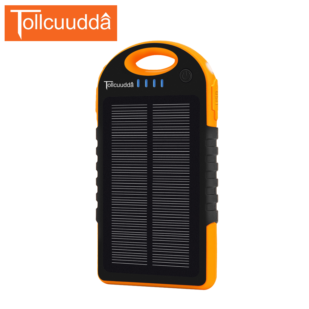 bilder für Tollcuudda TOP Solar Power Bank Travel Power Bank 12000 mAh Externe Batterie Tragbares Ladegerät Bateria Externa Pack für Smartphone