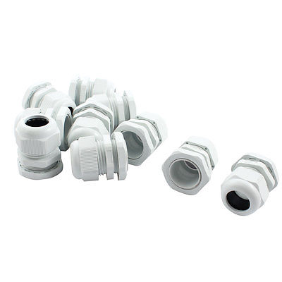 10Pcs Waterproof Gland Connector PG21 w Nut for 13-18mm Dia Cable Wire ge plastics plastic cable gland din pg type a wrap sell