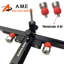 1 Pair Archery Bow Sight Stabilizer Compound Damper Ball Metal and Rubber Shock Absorb Head Damping