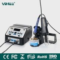 YIHUA 938BD + пайка SMD Пинцет Ремонт паяльная станция электрические нагревательные плоскогубцы постоянная температура Отопление Паяльная Станц