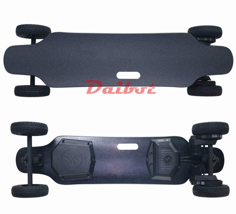 4 ruote Elettrico Motorino di Skateboard Fuori Strada A Doppia Motore Monopattini a motore elettrico Eectric Longboard Skateboard Per Adulti A Duplice Uso