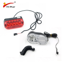Electric Bike LED Light Front And Rear Lamp Rechargeable Battery Waterproof Wire Accessories Bicicleta OEM Brand