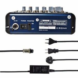 Image 5 - Freeboss smr6 bluetooth usb registro 2 mono + 2 estéreo 6 canais 3 banda eq 16 dsp efeito usb misturador de áudio profissional