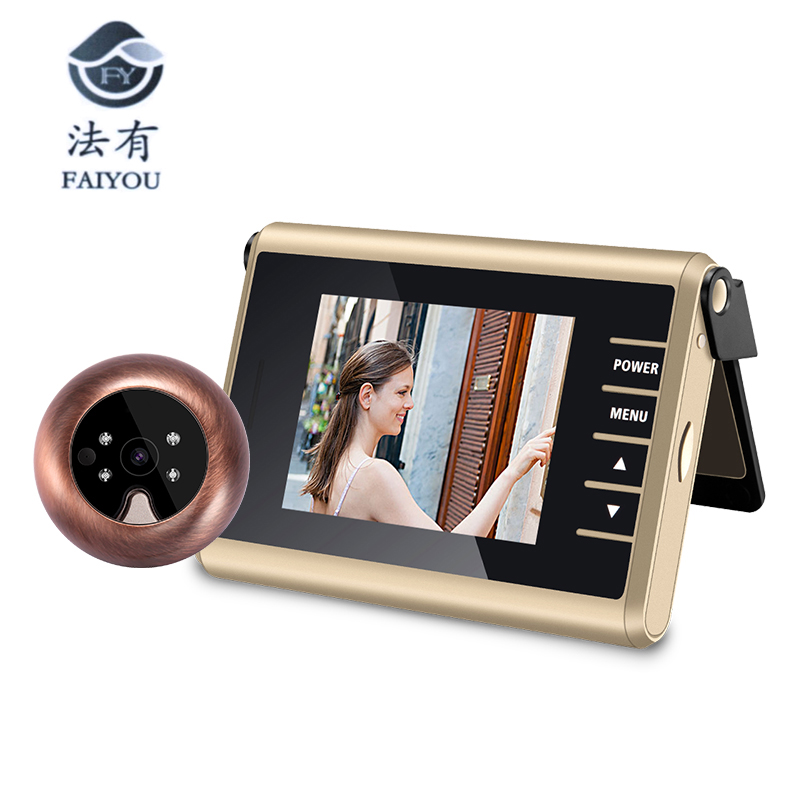 3 inch LED Door Viewer Peephole Door Bell Eye Doorbell Door Camera ZJA-D12 Photo/Video Press Recording With IR Night Vision 1.0 new lcd 3 0 digital doorbell electronic door bell viewer night door peephole viewer camera recording viewer photo video