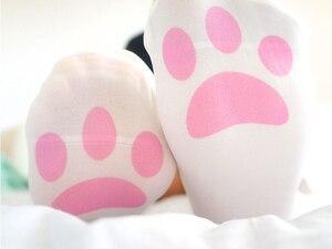 Image 3 - Cat Claw calze sopra il ginocchio Lolita da donna stampa calze alte calze lunghe Cosplay buona qualità Anime Kawaii carino dolce