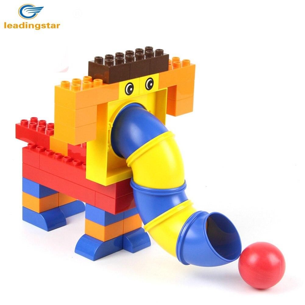 LeadingStar 40 Pcs Creative DIY Building Blocks Large Plastic Pipeline Game Brick Educational Toys for Kids zk30