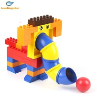 LeadingStar 40 Pcs Creative DIY Building Blocks Large Plastic Pipeline Game Brick Educational Toys For Kids