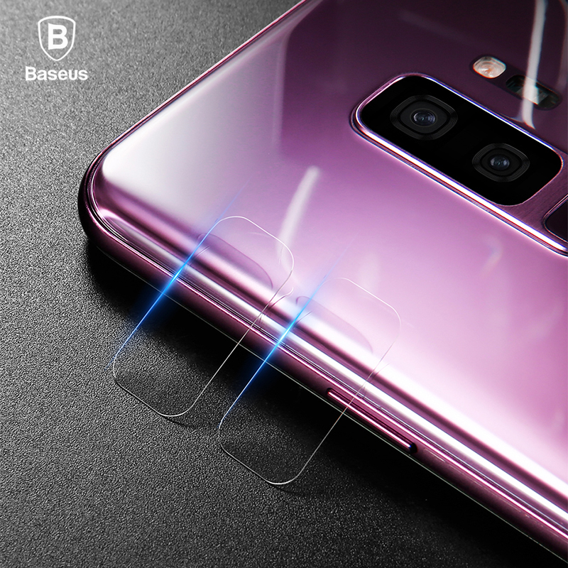 Baseus 2PCS 0.15mm Back Camera Lens Protector For Samsung S9 9H Scratch Proof Camera Lens Glass Film For Samsung Galaxy S9 Plus