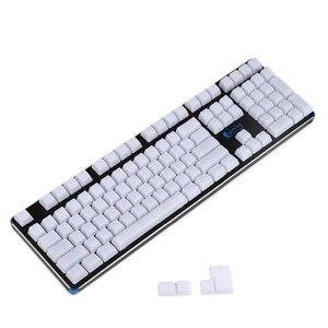 Image 4 - YMDK 1.5mm ABS 108 87 61 ANSI ISO Blank Milk Fog OEM Profile Shine Through Keycap For MX Mechanical Keyboard RGB GK61 Womier 66