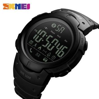 SKMEI Fashion Smart Watch Men Calorie Alarm Clock Bluetooth Watches 5Bar Waterproof Smart Digital Watch Relogio Masculino 1301