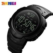 SKMEI moda akıllı saat erkekler kalori çalar saat Bluetooth saatler 5Bar su geçirmez akıllı dijital saat Relogio Masculino 1301