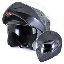 2016 ILM Motorcycle Helmet DOT Approved Carbon Fiber With Inner Sun Visor Flip Up Dual Visor Racing Motos Helmet Casco Capacete