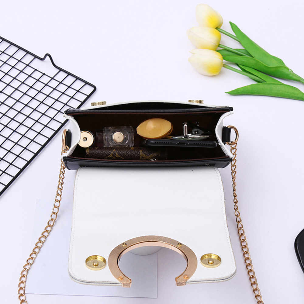 Женские сумки через плечо из искусственной кожи Модные украшения Лоскутные сумки через плечо Sac a bandouliere