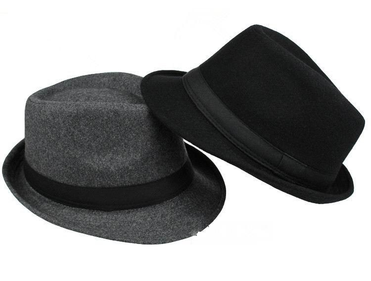 dropshipping Brand New Fashion Pure men Women's Large Brim Caps fedoras Floppy Jazz hat Vintage Popular wool caps