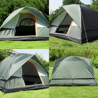 (Ship From Russia / China) 4 Peoples Waterproof Outdoor Camping Hiking climb Polyester Oxford Cloth Dual Layers Tent Travel Tent