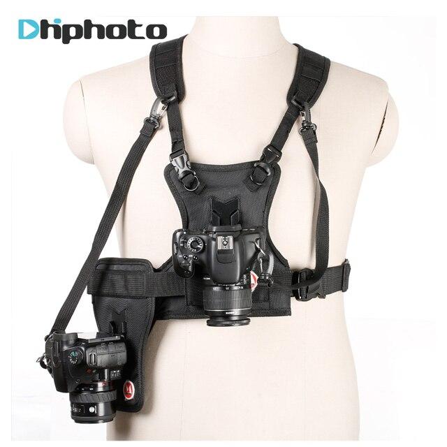 Carrier II Dual 2 กล้องสายรัดอกเสื้อกั๊กระบบQuick Strapด้านข้างสำหรับCanon Nikon Sony pentax DSLR