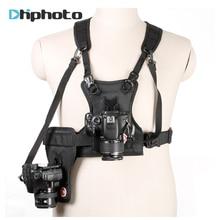 Taşıyıcı II Çoklu Çift 2 Kamera Taşıma Göğüs Koşum Sistemi Yelek hızlı Askı ile Canon Nikon Sony Pentax DSLR için Yan Kılıf