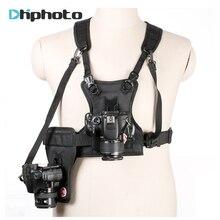 Portador ii multi dupla 2 câmera de transporte peito sistema arnês colete cinta rápida com coldre lateral para canon nikon sony pentax dslr