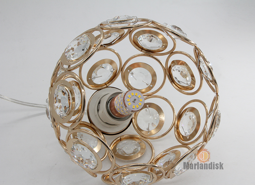 Светодиодный подвесной светильник с кристаллами, лампа для столовой, золотой подвесной светильник, светильник для бара, столовой, подвесной потолочный светильник для кухни(DN-50