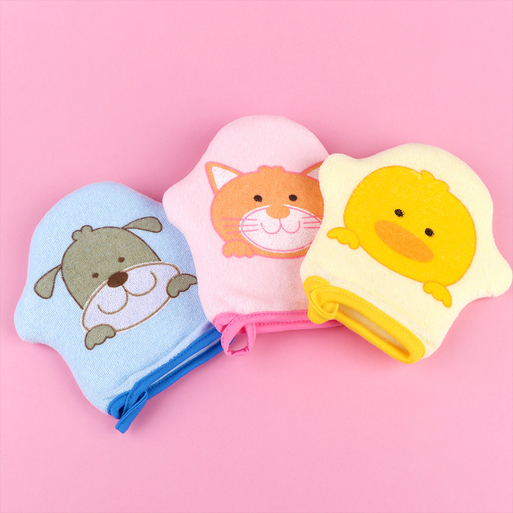 1PC Kids Children Soft Cotton Face Towel Face-Cloth Washcloth Cute Cartoon Q