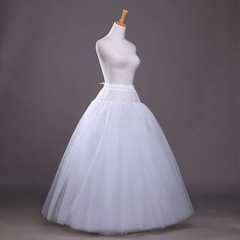 Enagua blanca sin aro/enagua/Slip Crinoline Prom/accesorios de vestido de novia 2018 Enagua de aro con borde de encaje de 6 aros para vestido de baile, vestido de boda, ropa interior de tul para boda, accesorios de crinolina