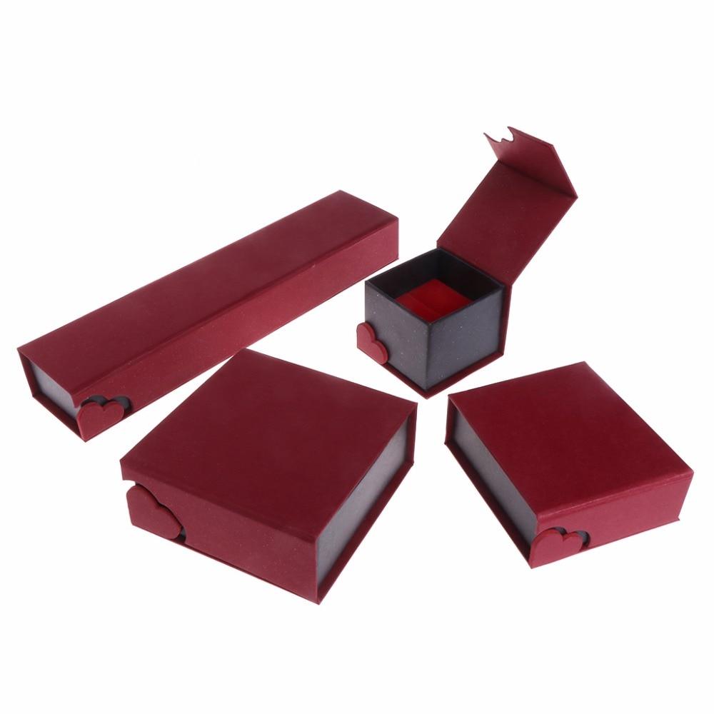 JAVRIVK 22x5x3cm Jewelry Box Bracelet Bangle Necklace Pendant Ring Gift Soft Display Case Wedding