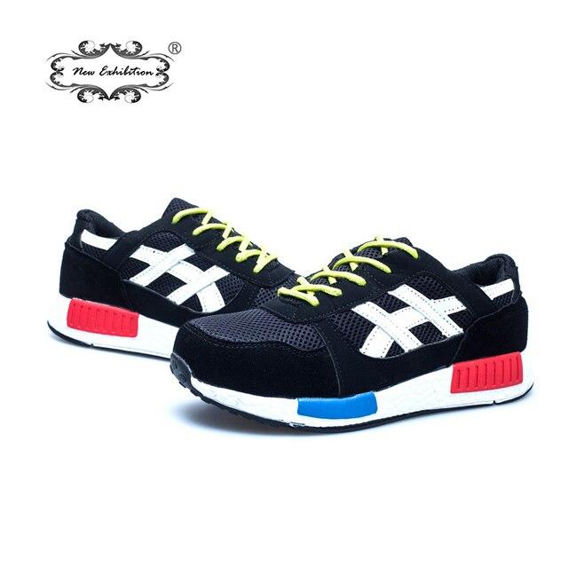 Yeni Sergi erkekler moda güvenlik ayakkabıları nefes örgü güvenlik botları çelik ayak iş ayakkabısı Dayanıklı Koruyucu Ayakkabı size35-46