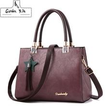 Gorden Yi De Female Tote Bag Messenger Bag quality PU Leather Women Solid Shoulder Bag Female Tassel Pendant Women Handbag Lady