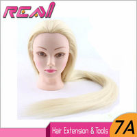 Mannequin Head 100 Synthetic Hair 20 Blonde Training Hairdressing Practice Cosmetology Mannequins Hair Styling With Free