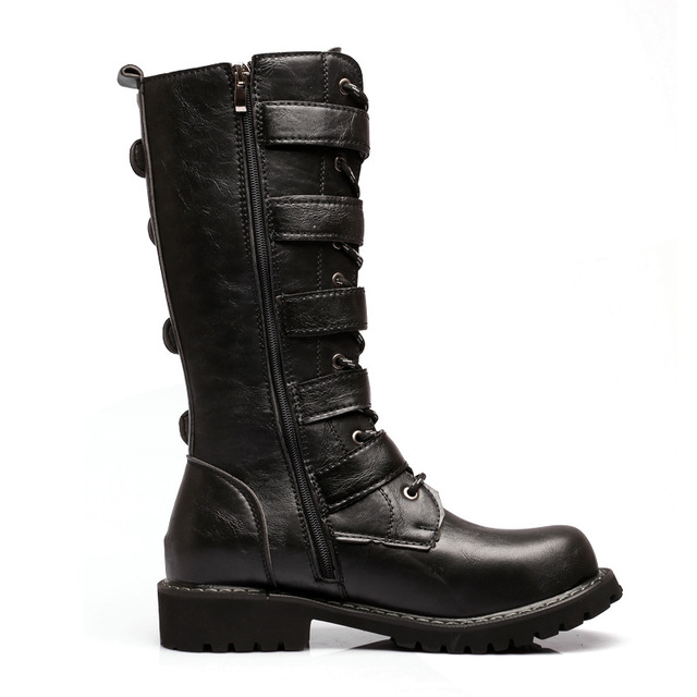 Winter Fashion Men Boots Solid Zipper Lace Up Design Round Toe Med Flat Heel Shoes Male Warm Casual Mid-Calf Martin Boots Z420 laconic women s mid calf boots with lace up and chunky heel design