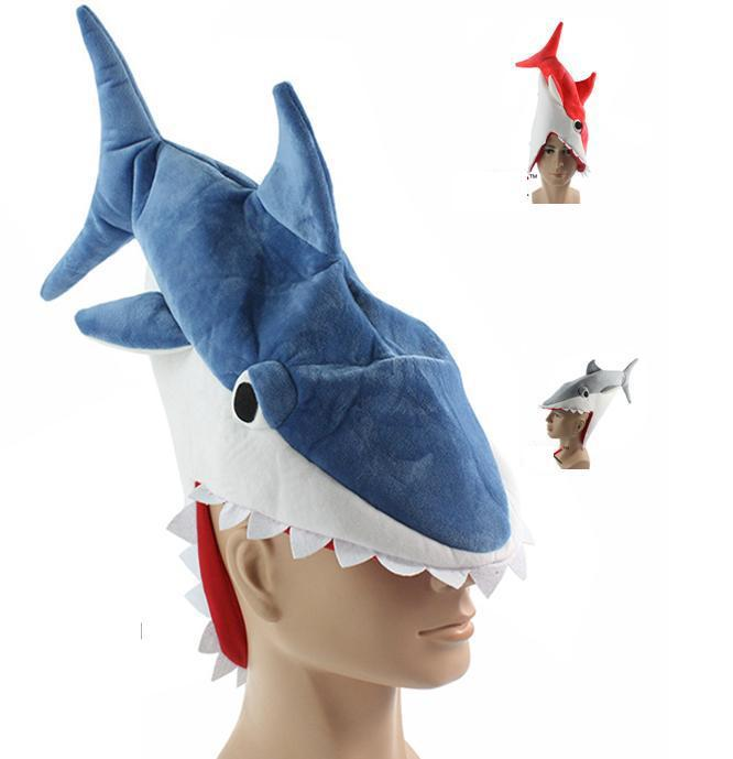 Shark Plush Hat Novelty Aquarium Shark Stuffed Plush Cap Cosplay Hat Halloween Party Cap For Adult Free Shipping