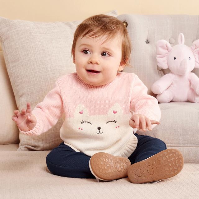 balabala Baby Boys girls infant Sweater Autumn Winter Newborn Cotton Clothes Pullover Sweater Pattern Open Shoulder For kids