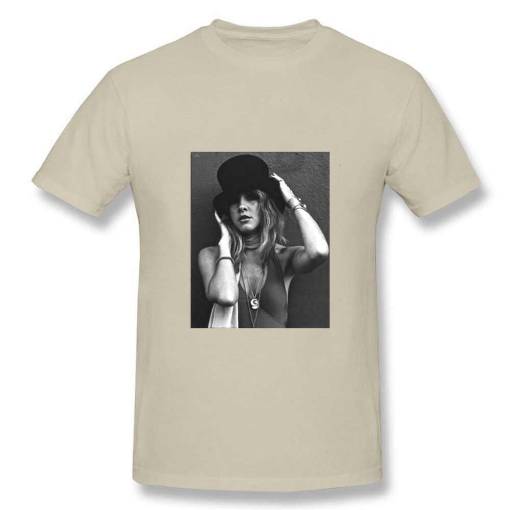 ... Verano manga corta Camisetas Crewneck hombre Stevie Nicks Top sombrero  Slim Fit camiseta promoción hombre personalizado 9eeb4de268f