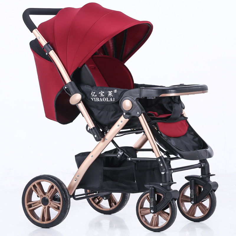 HK free!  EU high-profile baby trolley can sit can lying  trolley ultra-light portable baby stroller 175 degrees umbrella cars встраиваемая акустика speakercraft profile accufit ultra slim one single asm53101 2