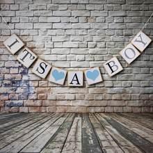 Seu um menino rosa menina chá de fraldas banner decorações de festa 1st aniversário pompom 1 ano um recém-nascido chá de fraldas photobooth adereços
